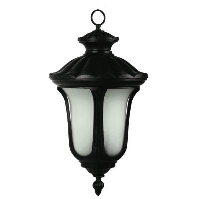 Tori Collection 3-Light Black Outdoor Hanging Lamp