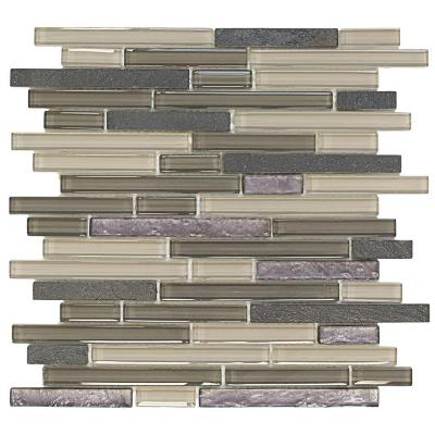 Jeffrey Court Silver Lace Ocean 11.875 in. x 13 in. x 8 mm Glass and Quartz Mosaic Wall Tile