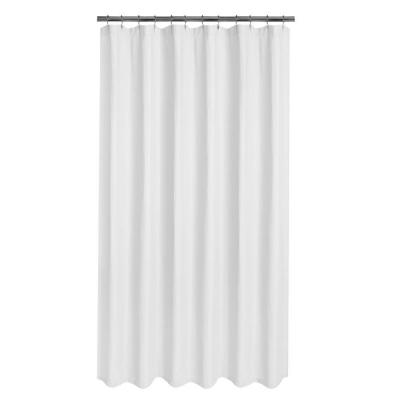 Luxury Spa Waffle 70 in. x 72 in. Fabric Shower Curtain