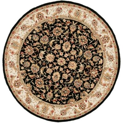 Chelsea Black 8 ft. Round Area Rug