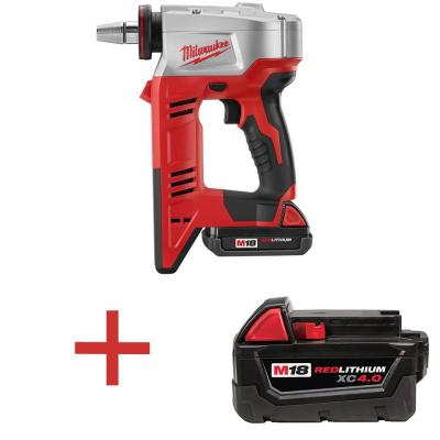 Milwaukee M18 18-Volt Lithium-Ion Cordless ProPEX Expansion Tool Kit with Free M18 4.0Ah Extended Capacity Battery