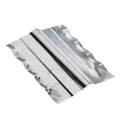 Construction Metals 10 in. x 10 ft. Galvanized Corrugated Ridge Cap Flashing