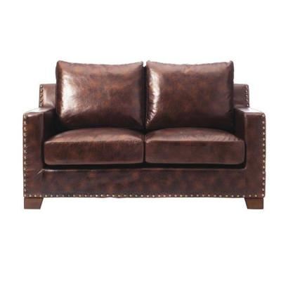 Home Decorators Collection Garrison Brown Bonded Leather Loveseat