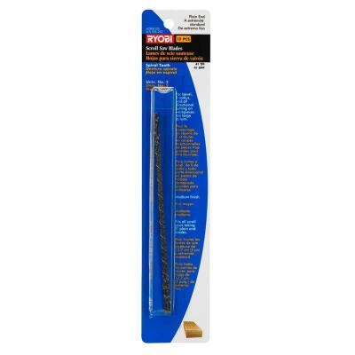 5 in. x 41 TPI Plain-End Scroll Saw Blades (12-Pack)