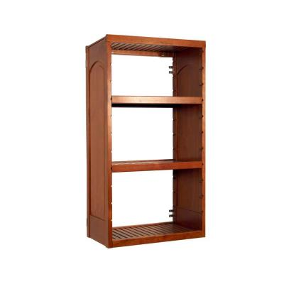 Woodcrest 16 in. Deep Stand Alone Tower Kit in Caramel