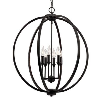 Corinne 6-Light Oil Rubbed Bronze Large Pendant