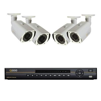 Q-SEE Platinum Series 4-Channel 720p 1TB NVR with (4) 720p Indoor/Outdoor Cameras, 100 ft. Night Vision