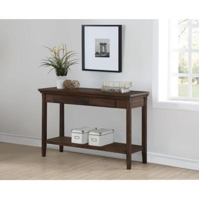 Foremost Rockwell Distressed Wheat Console Table