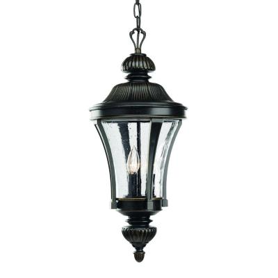 Progress Lighting Nottington Collection 3-Light Outdoor Hanging Forged Bronze Lantern