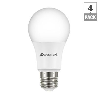 60W Equivalent Bright White A19 Energy Star Dimmable LED Light Bulb (4-Pack) Product Photo