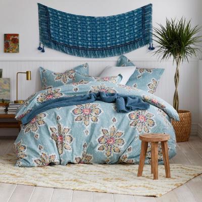 Serafina 200-Thread Count Cotton Percale Duvet Cover Set