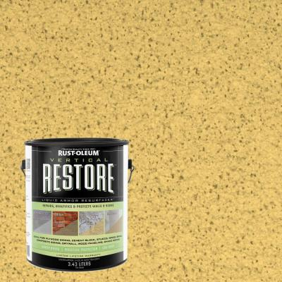 Rust-Oleum Restore 1-gal. Maize Vertical Liquid Armor Resurfacer for Walls and Siding