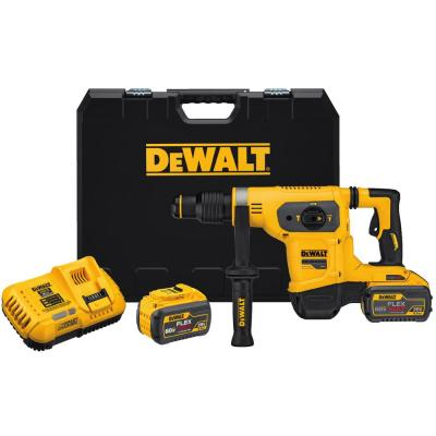 DEWALT FLEXVOLT 60-Volt MAX Lithium-Ion Cordless 1-9/16 in. Combo Hammer with (2) 9.0Ah Batteries, Charger and Case