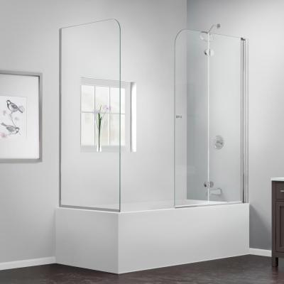 AquaFold 56 to 60 in. x 58 in. Semi-Framed Hinged Tub