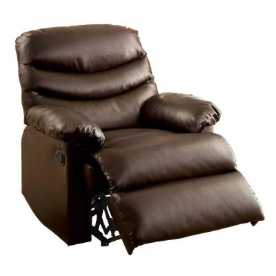 Pleasant Valley Bonded Leather Recliner Chair in Dark Brown Product Photo