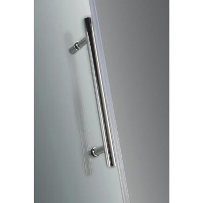 Aston Avalux GS 35 in. x 30 in. x 72 in. Completely Frameless Shower Enclosure with Glass Shelves in Chrome