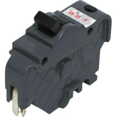 Thick 20-Amp Single-Pole Type F UBI Replacement Circuit Breaker Product Photo