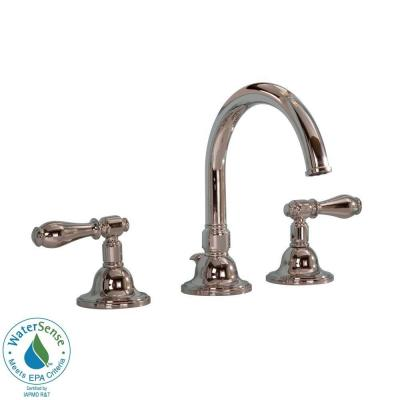 Martha Stewart Living Seal Harbor 8 in. Widespread 2-Handle High-Arc Bathroom Faucet in Polished Nickel