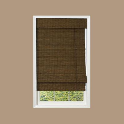 Designview maple providence bamboo roman shade 48 in w for 18 inch window blinds