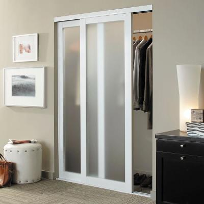 Eclipse 1 Lite Anodized Aluminum Duratuf Tempered Mystique Safety Glass Interior Sliding Door
