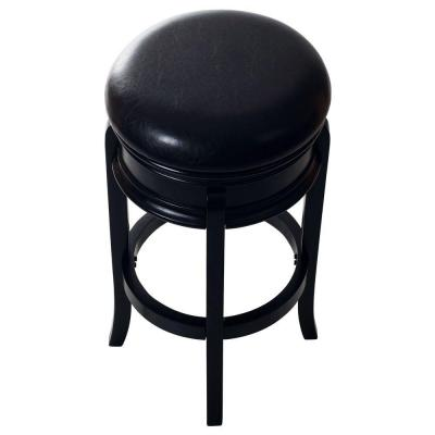 29 in. Bar Stool with Swivel in Black Wood