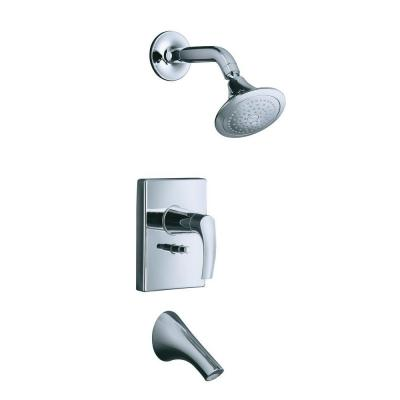 Symbol 1-Spray 1-Handle Tub and Shower Faucet Trim Only in Polished Chrome (Valve Not Included) Product Photo