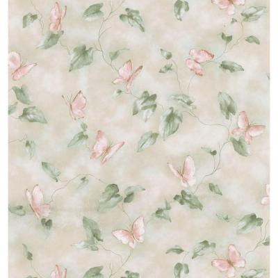 Brewster 56 sq. ft. Butterfly Trail Wallpaper
