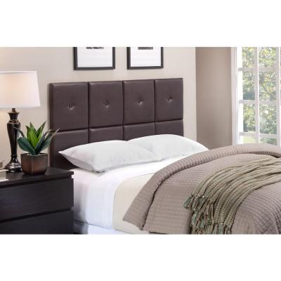Tessa Full/Queen Size Tile Headboard with Tuft in Espresso Product Photo