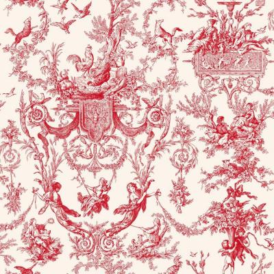 56 sq. ft. Old World Toile Wallpaper