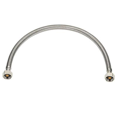 Homewerks Worldwide 1/2 in. IPS x 1/2 in. IPS x 16 in. Faucet Supply Line Braided Stainless Steel