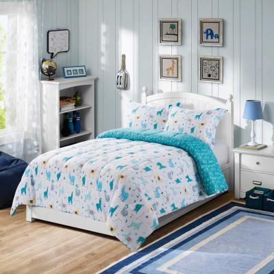 Llama Multi-Color Comforter Set