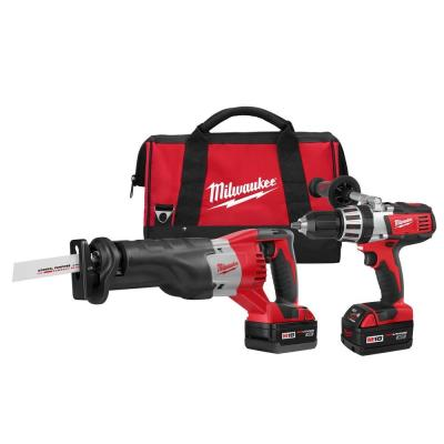Milwaukee M18 18-Volt Lithium-Ion Cordless Hammer Drill/Sawzall Combo Kit (2-Tool)