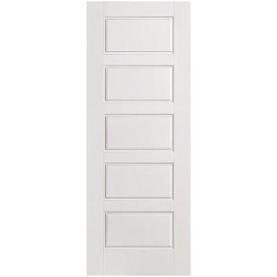 Riverside Smooth 5-Panel Equal Hollow Core Primed Composite Single Prehung Interior Door