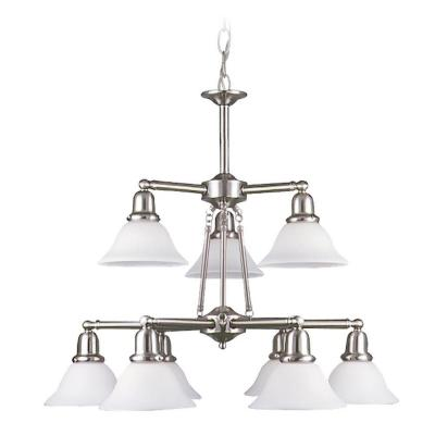Sea Gull Lighting Sussex 9-Light Brushed Nickel Multi Tier Chandelier 31062-962