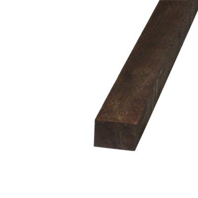 null Pressure-Treated Timber HF Brown Stain (Common: 4 in. x 4 in. x 8 ft.; Actual: 3.56 in. x 3.56 in. x 96 in.)