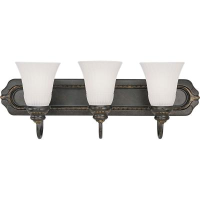 Progress Lighting Huntington Collection Forged Bronze 3-light Vanity Fixture-DISCONTINUED