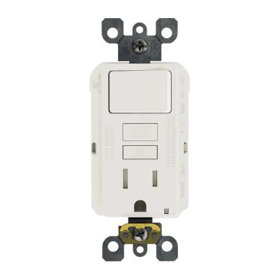 15 Amp 125-Volt Combo Self-Test Tamper-Resistant GFCI Outlet and Switch, White Product Photo