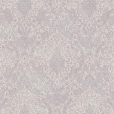 8 in. x 10 in. Essex Lavender Lacey Damask Wallpaper Sample
