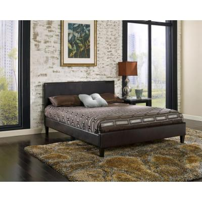 Brown Queen Headboard/Footboard Padded Set Product Photo