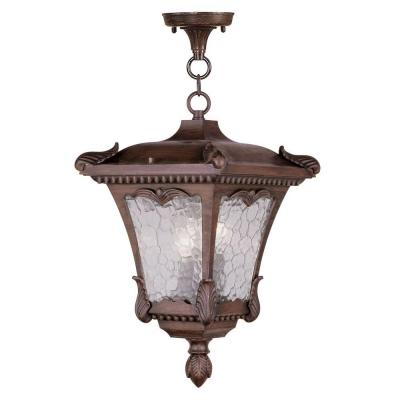 Filament Design Providence 3-Light Hanging Outdoor Imperial Bronze Incandescent Lantern