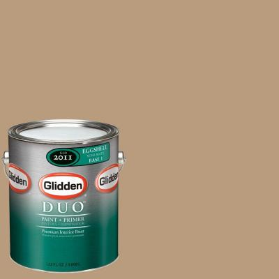 Glidden DUO 1-gal. #GLN01 Warm Caramel Eggshell Interior Paint with Primer