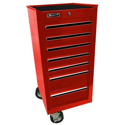 Professional 17 in. 7-Drawer Side Cabinet, Red