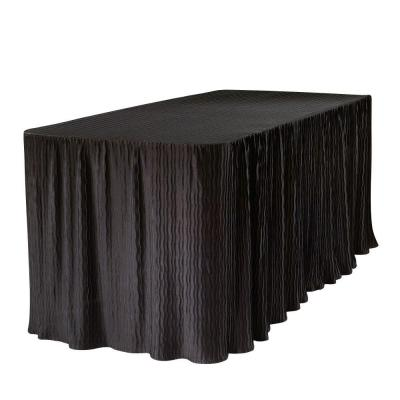 The Folding Table Cloth 6 ft. Black Table Cloth Made for Folding Tables