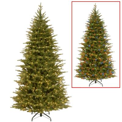 7.5 ft. Nordic Spruce Slim Artificial Christmas Tree with Dual Color