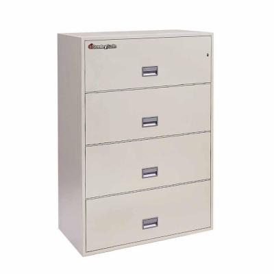 SentrySafe 4-Drawer 36 in. W Lateral Fire File in White Glove Delivery