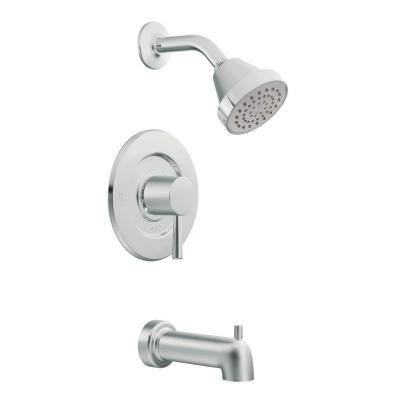 MOEN Level Posi-Temp 1-Handle Tub and Shower Faucet Trim Kit in Chrome (Valve Not Included)