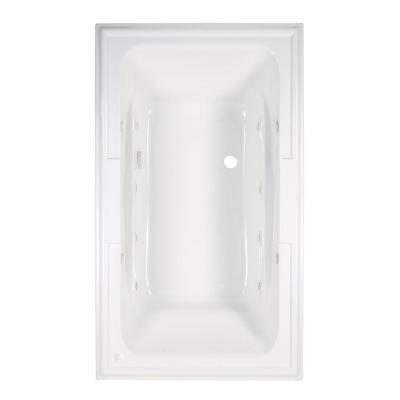 Town Square 6 ft. x 42 in. Center Drain EcoSilent EverClean Whirlpool Tub with Chromatherapy in Arctic White Product Photo
