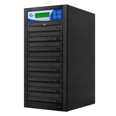 7 Copy DVD/CD Duplicator Features 24x DVD Drives - Black Product Photo