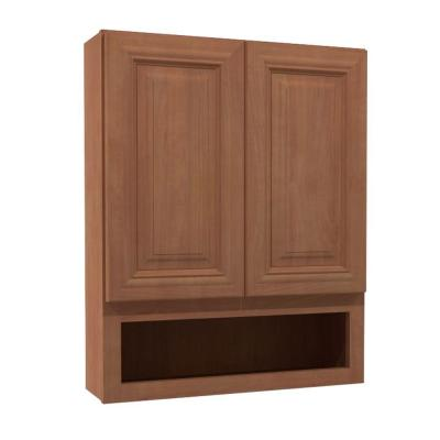 24x30x7 in. Dartmouth Assembled Vanity Wall Boutique Cabinet with 2 Doors in Cinnamon Product Photo