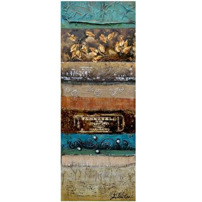 Yosemite Home Decor 17.5 in. x 47 in. Rummage I Hand Painted Contemporary Artwork